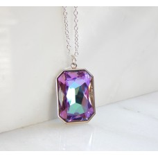 Large light rainbow crystal pendant