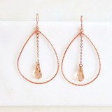 Rose gold open hoop earrings