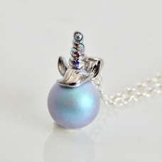 Unicorn Pearl Charm Necklace Blue SWAROVSKI®