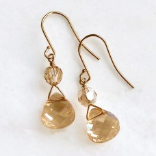 Golden briolette earrings