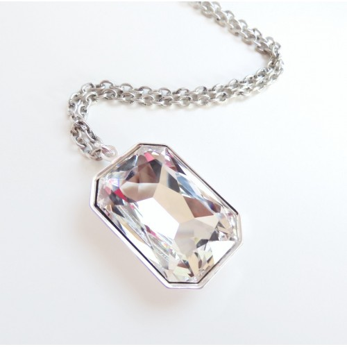 tea necklace accessories img crystal pendant opal point holographic cerise large