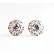 Clear vintage crystal post earrings