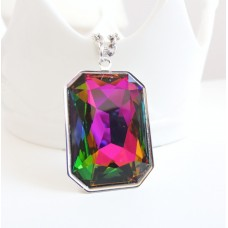 Rainbow large crystal pendant