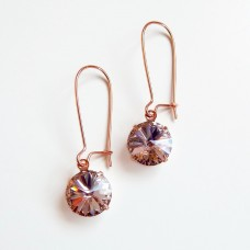Rose gold and vintage rose earings